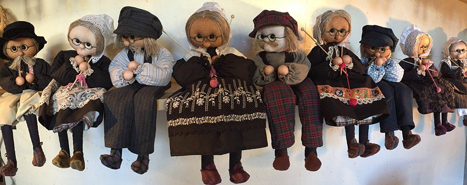 Medley of grandmother and grandfather dolls